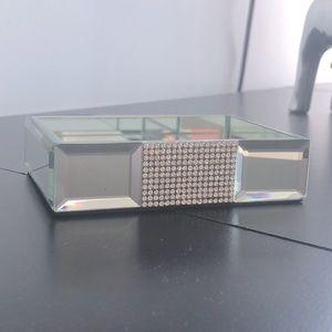 Glass Jeweled Soap Dish Vanity